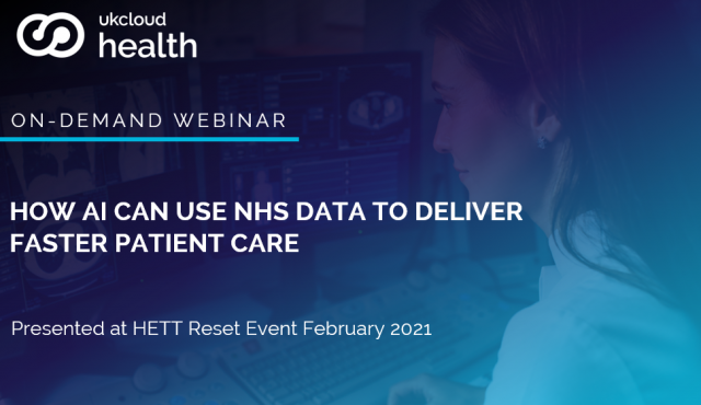How AI can use NHS data to deliver faster patient care
