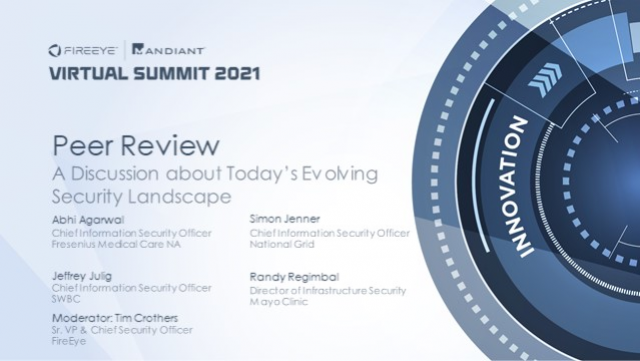 Peer Review - A Discussion about Today's Evolving Security Landscape