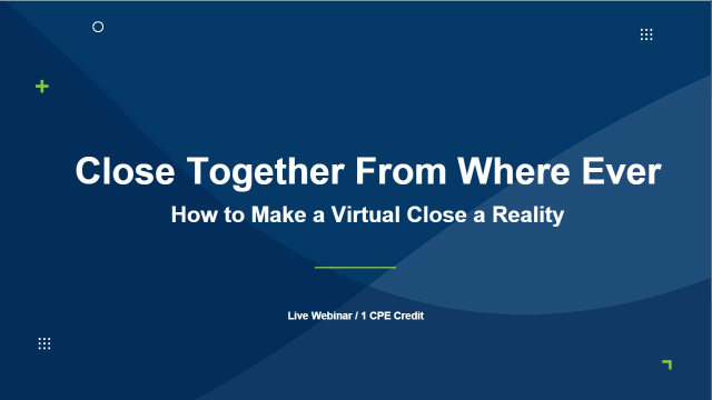 Close Together From Where Ever: How to Make a Virtual Close a Reality