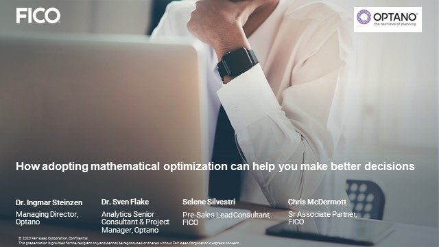 How mathematical Optimization can help you make better decisions?