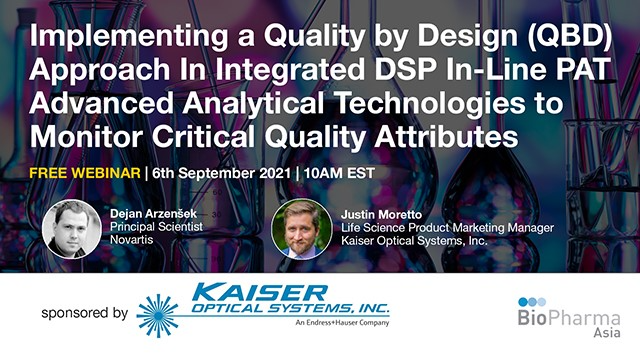 Implementing a Quality by Design (QBD) Approach In Integrated DSP In-Line PAT...
