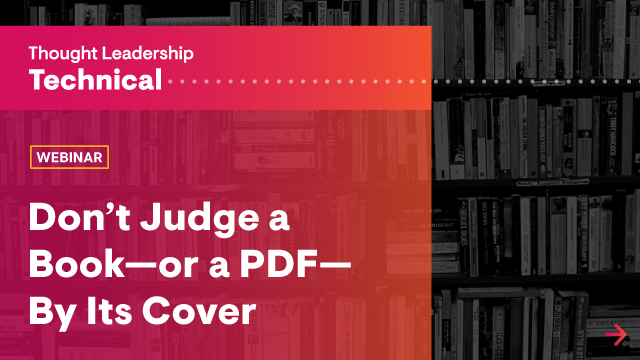 Don't Judge a Book—or a PDF—By Its Cover