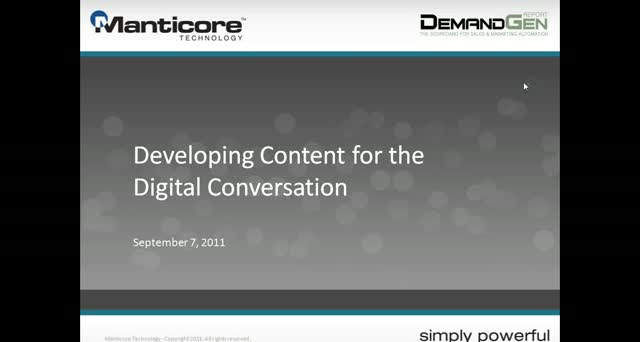 Developing Content for the Digital Conversation