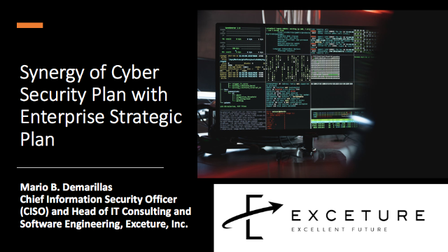 Synergy of Cyber Security Plan with Enterprise Strategic Plan