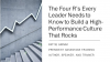 Four R's Every Leader Needs to Know to Build a High-Performance Culture