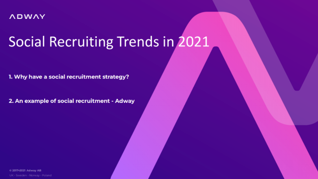 Social Recruiting Trends in 2021