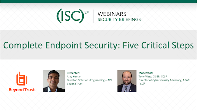 Complete Endpoint Security: Five Critical Steps