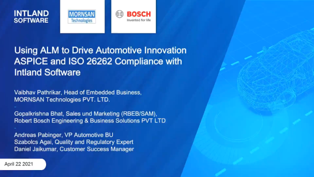 Using ALM to Drive Automotive Innovation: ASPICE and ISO 26262 Compliance