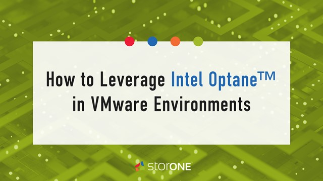 How to Leverage Intel Optane™ in VMware Environments
