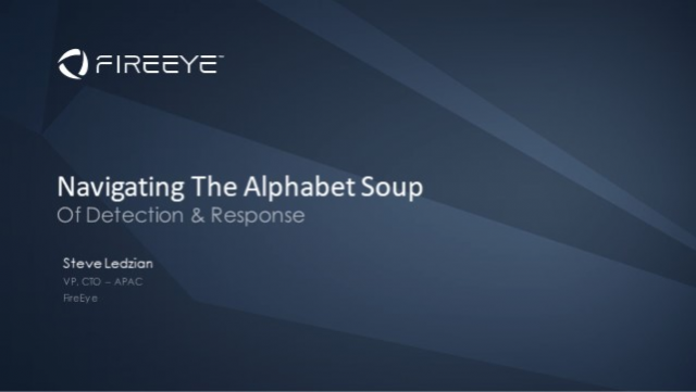Navigating The Alphabet Soup Of Detection & Response