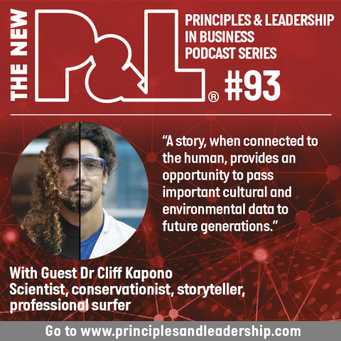 The New P&L speaks to with Dr. Cliff Kapono, scientist, conservationist, surfer