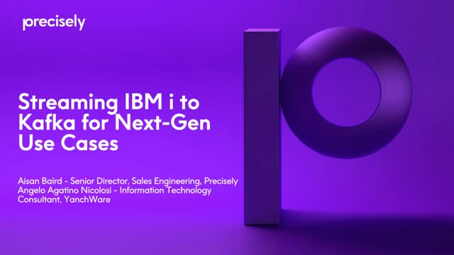 Streaming IBM i to Kafka for Next-Gen Use Cases