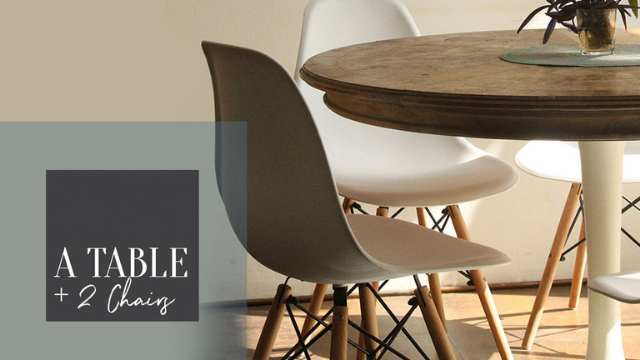 A Table + Two Chairs: Your Message Matters