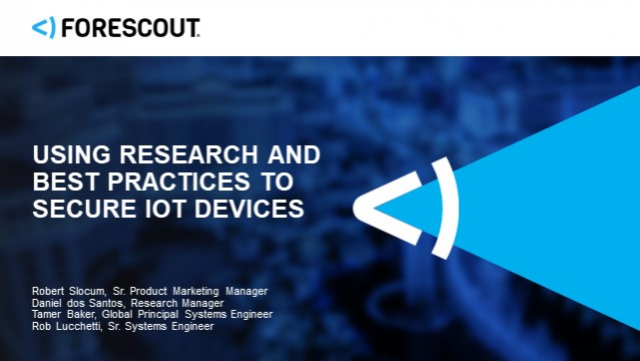 Using Research and Best Practices to Secure IoT Devices