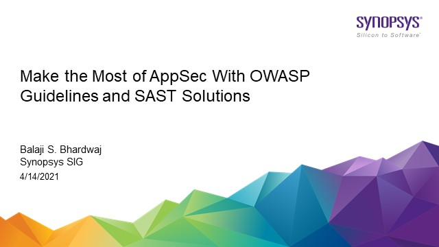 Make the most of AppSec with OWASP guidelines and SAST Solutions