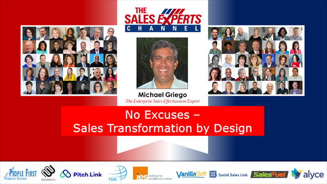 No Excuses - Sales Transformation by Design