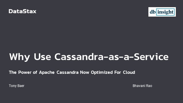 Why use Cassandra-as-a-Service?