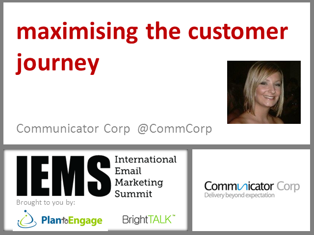 Maximising the Customer Journey