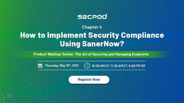 How to implement security compliance using SanerNow?