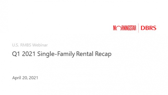 U.S. RMBS Frontline Perspectives: Single-Family Rental Performance Trends