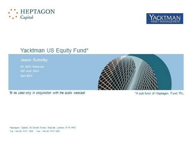 Yacktman US Equity Fund Q1 2021 Webcast