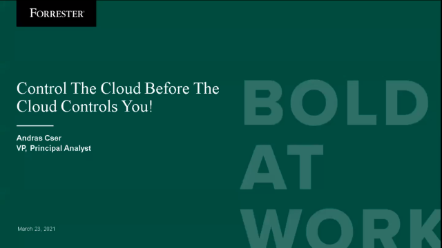 Cloud Governance Best Practices - Featuring Forrester Research