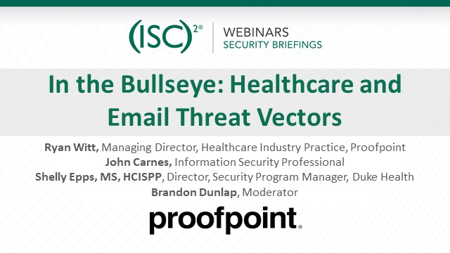 In the Bullseye: Healthcare and Email Threat Vectors
