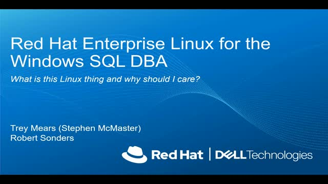 Microsoft SQL Server 2019 on Red Hat Enterprise Linux and OpenShift Container