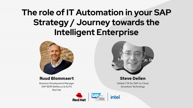 The role of IT automation in your SAP journey toward the Intelligent Enterprise