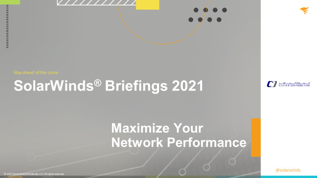 Episode 3: Maximize Your Network Performance With SolarWinds