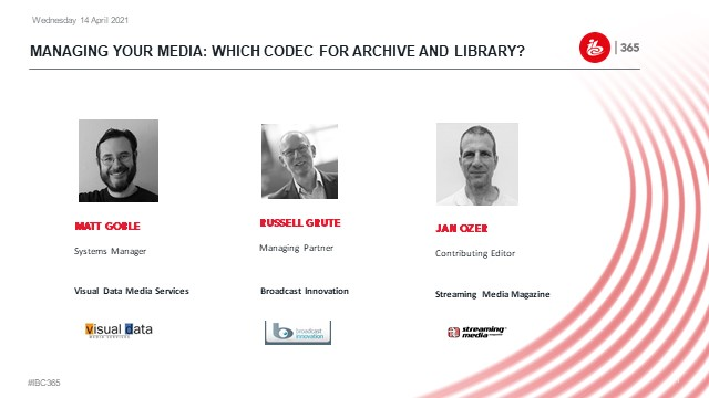 Managing your media: Which codec for archive and library?
