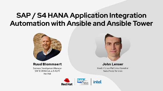 SAP S/4HANA Application Integration Automation with Ansible and Ansible Tower