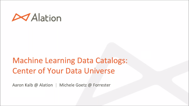 Machine Learning Data Catalogs - Center of your Data Universe