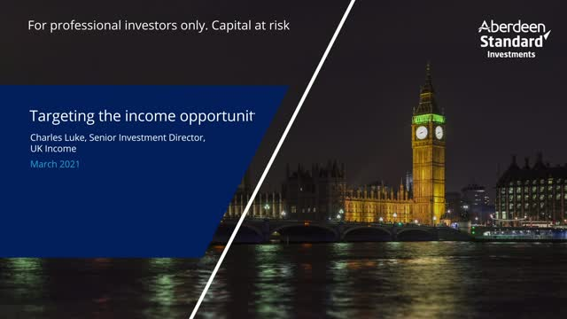 Targeting the income opportunity - March 2021