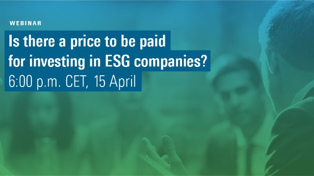 Is there a price to be paid for ESG investing?