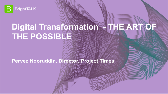 Digital Transformation – THE ART OF THE POSSIBLE