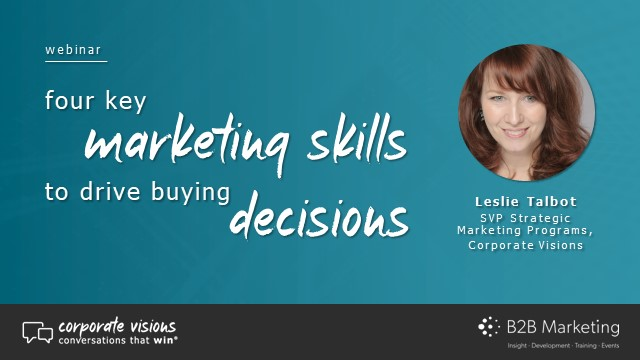 Four key marketing skills to drive buying decisions
