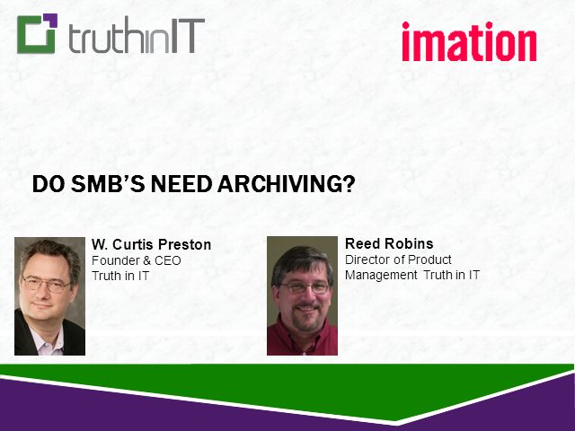 Do SMB's Need Archive?