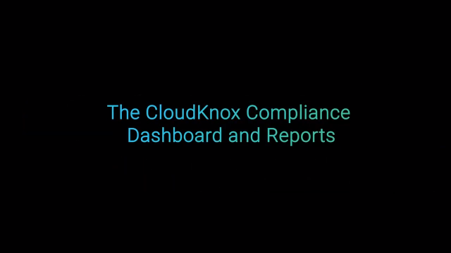 CloudKnox Compliance Dashboard and Reports