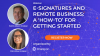 E-Signatures and Remote Business: A 'How-to' for Getting Started