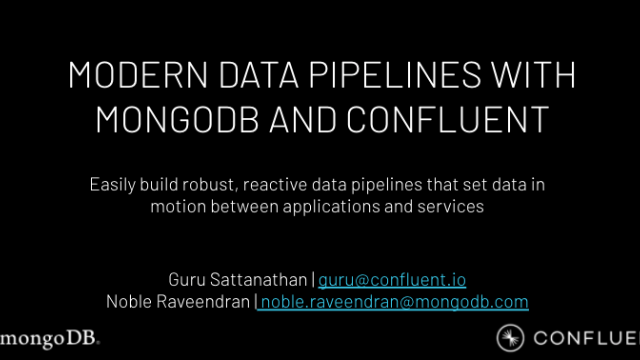 Modernising Data Pipelines with Confluent and MongoDB