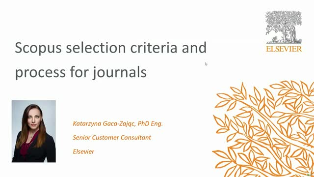 Scopus selection criteria and process for journals
