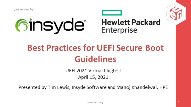 Best Practices for UEFI Secure Boot Customization