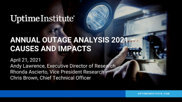 Annual Outage Analysis 2021 - Causes and Impacts