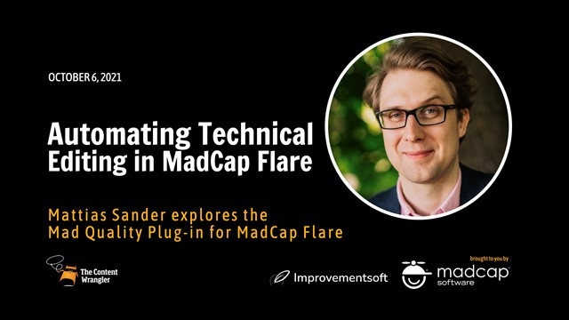 Automating Technical Editing in MadCap Flare