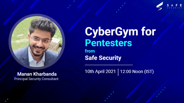 CyberGym for Pentesters from Safe Security
