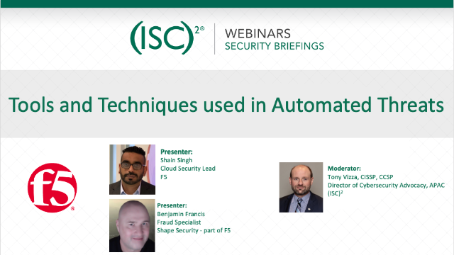 Tools and Techniques used in Automated Threats