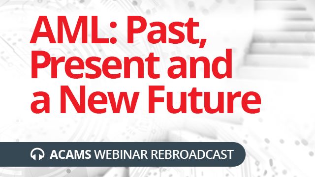 AML: Past, Present and a New Future