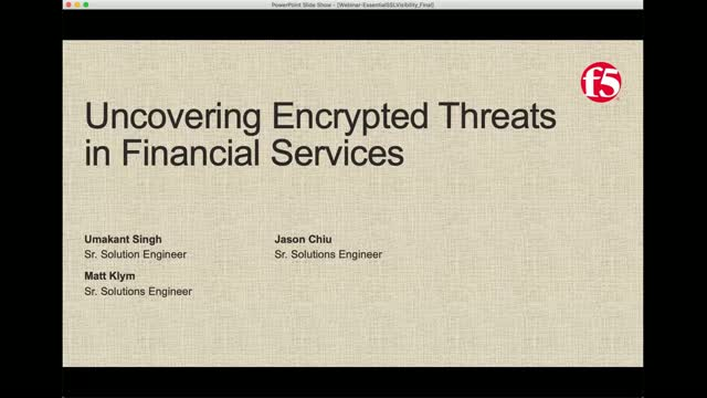 Uncovering Encrypted Threats in FSI