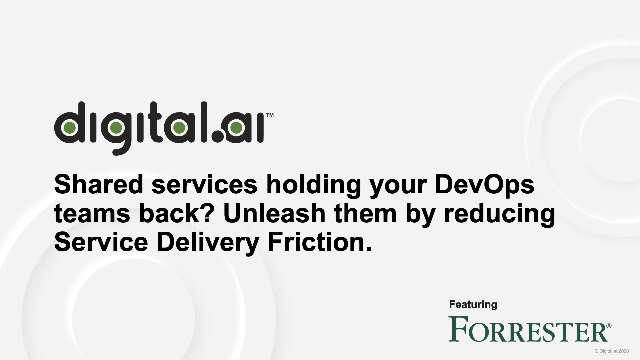 Unleash Devops by Reducing Service Delivery Friction